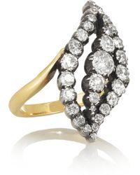 Olivia Collings - 18karat Gold Diamond Ring - Lyst