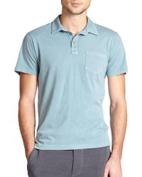 Splendid Mills Washed Cotton Polo Shirt - Lyst