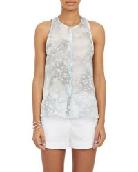 Cacharel Floral Voile Blouse - Lyst