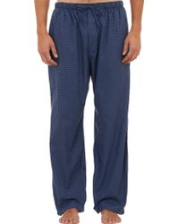 Barneys New York Micro Medallion Pajama Pants - Lyst