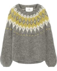Day Birger Et Mikkelsen Embellished Mohair-blend Sweater - Lyst