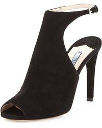Prada Suede Ankle-Strap Sandal - Lyst