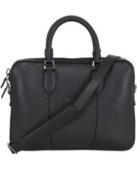 Santoni - Grained Leather Small Briefcase - Lyst