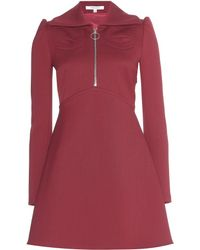 Carven Zipped Crepe Dress - Lyst
