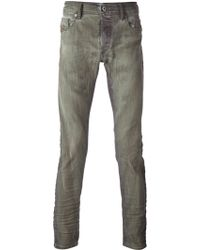 Diesel Green Faded Jeans - Lyst
