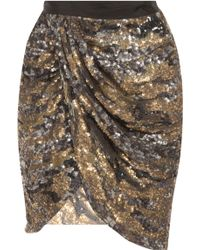 Isabel Marant Elmira Sequin with Ruched Detail - Lyst