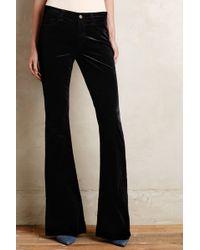 J Brand Martini Velvet Flare Jeans - Lyst