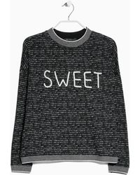 Mango Message Cotton Sweatshirt - Lyst