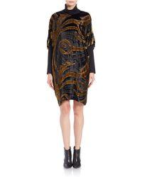 Anna Sui - Shimmering Velvet Shift Dress - Lyst