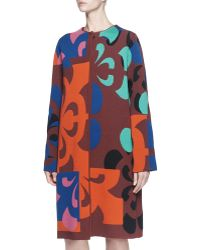 Alexander McQueen Broken Flower Long Coat - Lyst