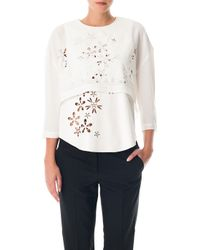 Tibi Petal Cut Out Layered Top - Lyst