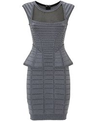 Hervé Léger Hindi Peplum Bandage Dress - Lyst