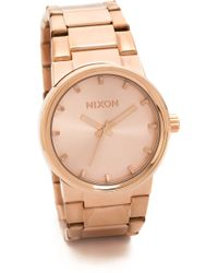 Nixon Cannon Watch  Rose Gold - Lyst
