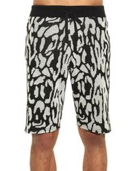 Baja East - Leopard Cotton Shorts - Lyst