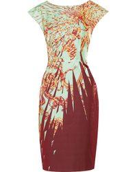 Matthew Williamson Printed Cotton-blend Sateen Dress - Lyst