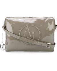 Armani Jeans - Embossed Logo Cross Body Bag - Lyst 7ddd581ba3