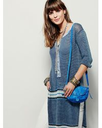 Free People | Womens Mini Distressed Saddle Bag | Lyst