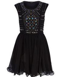 River Island Black Sequin Embellished Prom Dress - Lyst