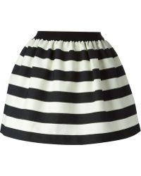 Isola Marras - Striped Puff Skirt - Lyst