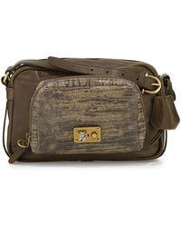 Etienne Aigner Paperback Distressed and Embossed Medium Leather Shoulder Bag - Lyst