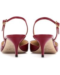 Jimmy Choo Tide Leather Kittenheel Slingbacks - Lyst