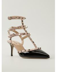 Valentino Rockstud Patent-Leather Pumps - Lyst