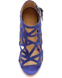 L.A.M.B. - Flower Cutout Sandals Indigo Blue - Lyst