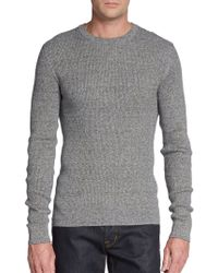 Dolce & Gabbana Melange Crewneck Sweater - Lyst