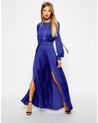 Asos Caftan Pleated Maxi Dress - Lyst