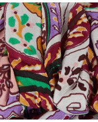 Etro - Lilac Paisley Twist Silk Headband - Lyst