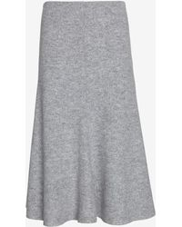Nicholas Felted Wool Flared Skirt - Lyst