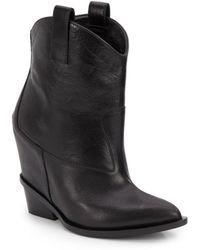 Giuseppe Zanotti Leather Wedge Cowboy Boots - Lyst