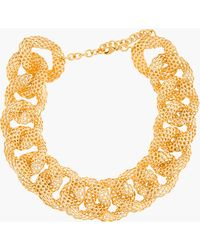 Balmain Gold Hollow Curb Chain Brass Necklace - Lyst