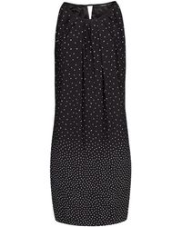 Mango Bow Polkadot Dress - Lyst