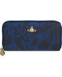 Vivienne Westwood Jungle Leopard Zip-Around Continental Wallet - For Women - Lyst
