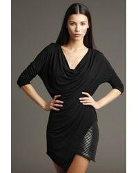 Chris Gramer - Juno Cowl Chain Dress In Black - Lyst