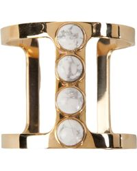 Lizzie Fortunato Jewels Pebble Tbar Cuff - Lyst