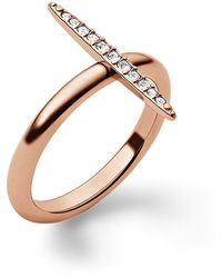 Michael Kors Rose Goldtone Crystal Pavã Matchstick Ring - Lyst