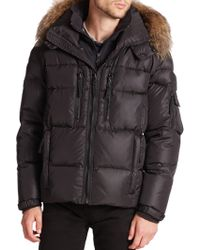 Sam. - Matte Mountain Fur-trimmed Puffer Coat - Lyst