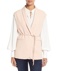 Vince Camuto | Shawl-Collar Belted Vest | Lyst
