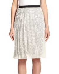 Joie Jacinthe Laser-Cut Pleated Skirt - Lyst