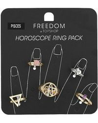 TOPSHOP - Pisces Horoscope Ring Pack - Lyst