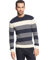Vince Camuto Blue Striped Sweater - Lyst