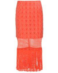Tamara Mellon - Fringe-trimmed Skirt - Lyst