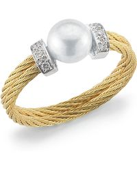 Charriol | Diamondstation Pearl Yellowcable Ring Size 65 | Lyst