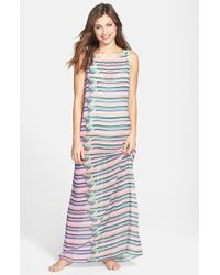 Ted Baker 'Power Keep On Rollin' Pleated Maxi Dress - Lyst