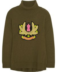 Moschino Cheap & Chic Embroidered Wool Turtleneck Sweater - Lyst