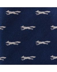 Paul Costelloe - Navy Twill Fox Silk Tie - Lyst