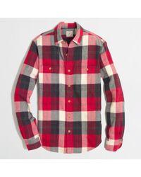J.Crew Factory Slim Flannel Workshirt - Lyst