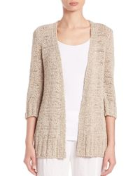 Eileen Fisher | Twisted Tape Cardigan | Lyst